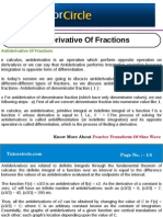 Anti Derivative of Fractions