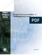 Prospects for Iraq's Stability