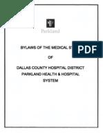 Parkland Medical Staff bylaws (5/26/9)