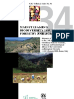 CBD Technical Series-34_Mainstreaming Biodiversity Issues Into Forestry and Agriculture