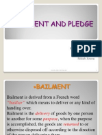 bailment and pledge meaning