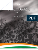Union Budget Analysis 2012-13