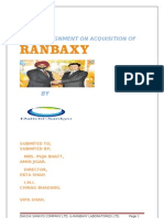 25842177 Report on Acquisition of Ranbaxy