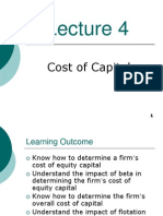 FIN3004 2011-2012s2 Lecture04 Cost of Capital