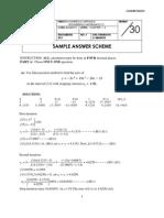 Sample Answer Scheme