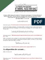 La perte d'un savant Cheikh 'Abdel 'Aziz ibn Baz