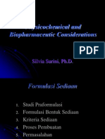 Physicochemical and Bio Pharmaceutic Considerations