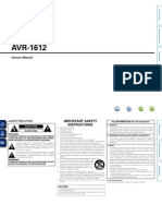 Owners Manual AVR1612