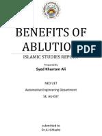 Benefits of Wudu