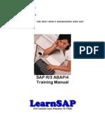 SAP ABAP BASIC Topic Tutorials