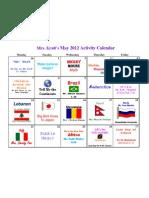 Activity Calendar May 2012 Kraft
