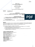 Operations Management Course Outline