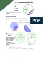 Sectores y segmentos de círculo1