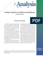 Ending Congestion by Refinancing Highways, Cato Policy Analysis No. 695