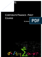 Corporate Finance First Course Toc