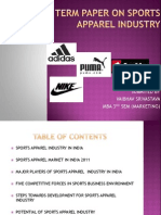Term Paper on Sports Apparel Industry