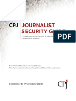 Journalist Security Guide . CPJ (Last Edition)