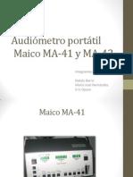 Audiómetro portátil Maico MA-21 Y MA-42