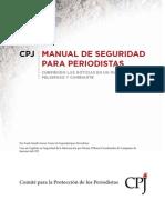 Manual de Seguridad Para Periodistas CPJ (Última Edición)