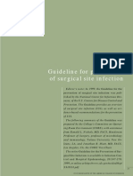 Guideline for Prevention of Surgical Site Infection