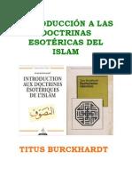 Titus Burckhardt Esoterismo Islamico