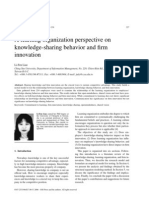 A Learning Organization Perspective on Knowledge-sharing Behavior and Firm Innovation