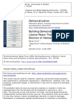 Building Democracy in Palestine- Liberal Peace Theory and the Election of Hamas