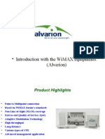 Introduction With the WiMAX Equipments Alvarion