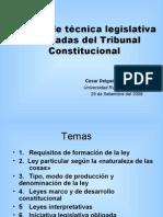 CDG - Pautas de técnica legislativa en las sentencias del Tribunal Constitucional