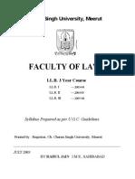 Ccs University Llb 3 Yrs Syllabus