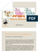 PETRA Reservoir Management