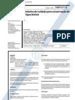 NBR 08719 Sb 79 - Simbolos de Cuidado Para Conservacao de Artigos Texteis