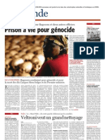 081219. Le Soir- Prison à vie pour génocide (Bagosora) - 19 décembre 2008 -
