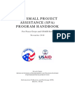 Peace Corps USAID The Small Project Assistance (SPA) Program Handbook - November 2010 - OOPTS Partnership Development Unit