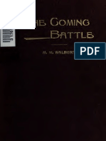 The Coming Battle a Complete History of the National Banking in the United W Walbert-1899