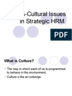 Cross-Cultural Issues in Strategic HRM