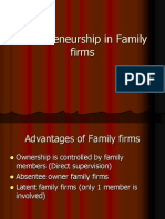 Entrepreneurship in Family Firms