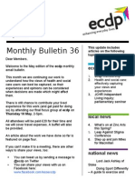 ecdp Email Bulletin 36