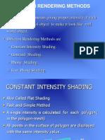 Polygon Rendering Methods