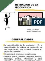 administracion produccion