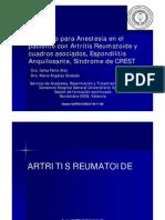 081104_PEIRO_AnestesiaEnfermedadesReumaticas_Presentacion