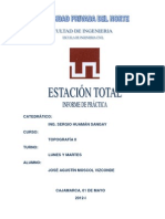 Informe Estacion Total Resumen