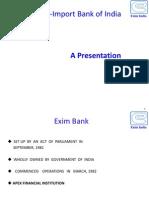 Exim Bank Ppt