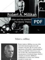 Robert a. Millikan- Atomic Theory Project