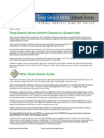Texas Service Sector Outlook May 2012