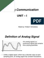 Definition ofAnalog Signal
