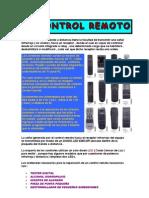 EL CONTROL REMOTO - GUIA DE REPARACIÓN