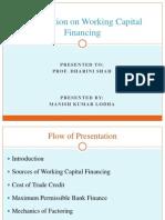 Presentation on Working Capital Financing
