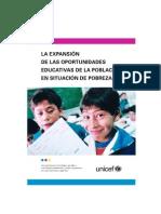 Fracaso escolar UNICEF