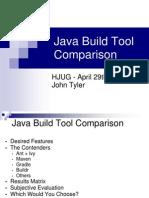 Java Build Tool Comparison